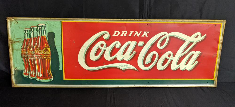 EMBOSSED TIN DRINK COCA COLA TIN SIGN