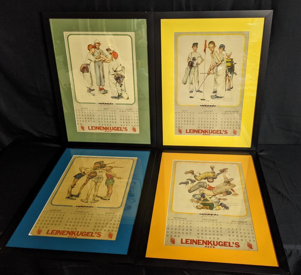 1951 NORMAN ROCKWELL LEINENKUGELS BEER CALENDAR