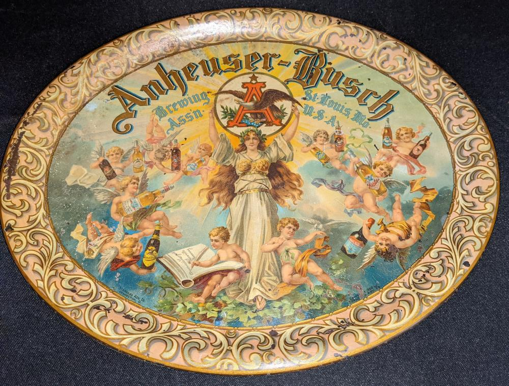 PRE PRO ANHEUSER BUSCH BEER TRAY ST LOUIS MO