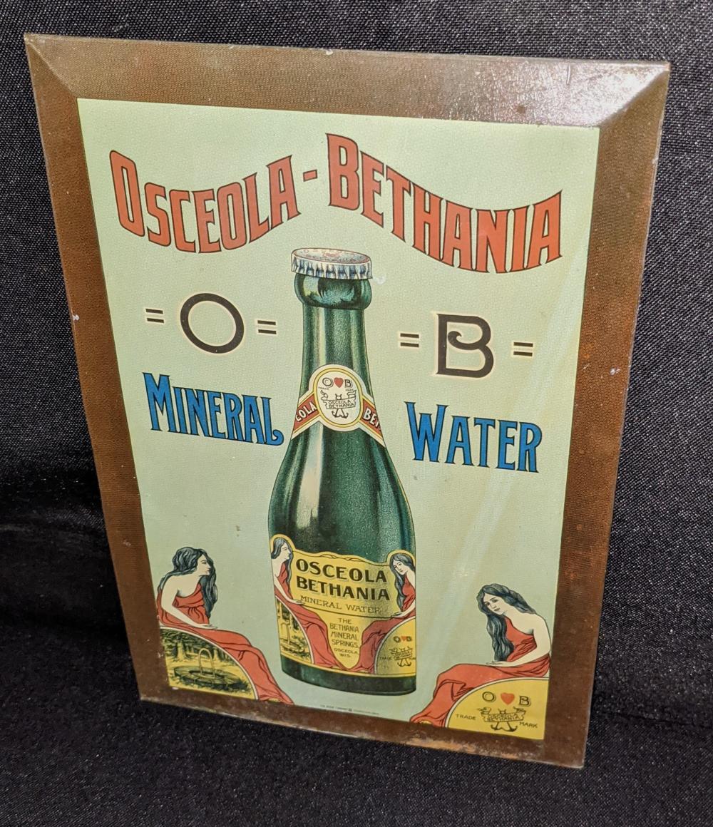 TOC TIN SIGN OSCEOLA BETHANIA MINERAL WATER