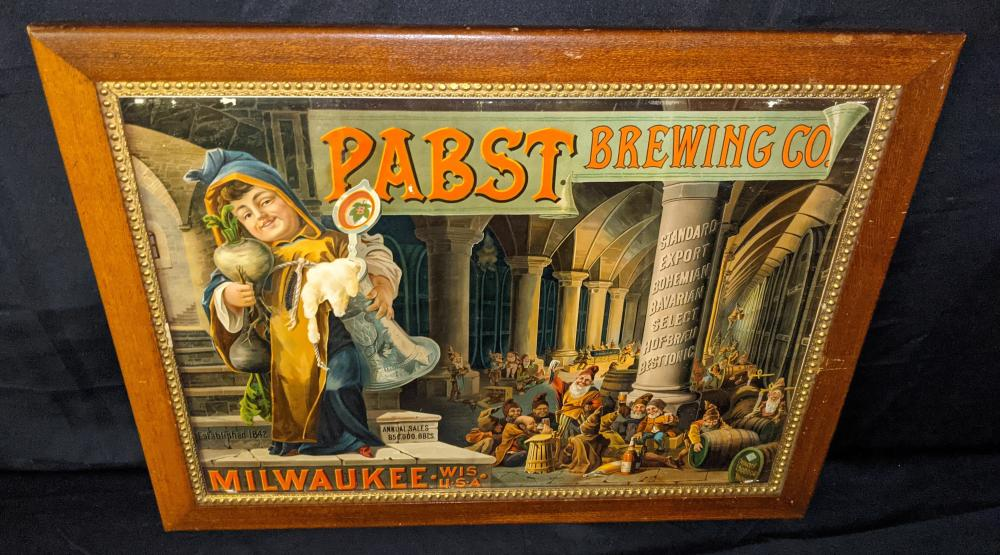 PRE PRO LITHO BEER SIGN PABST BREWING MILWAUKEE