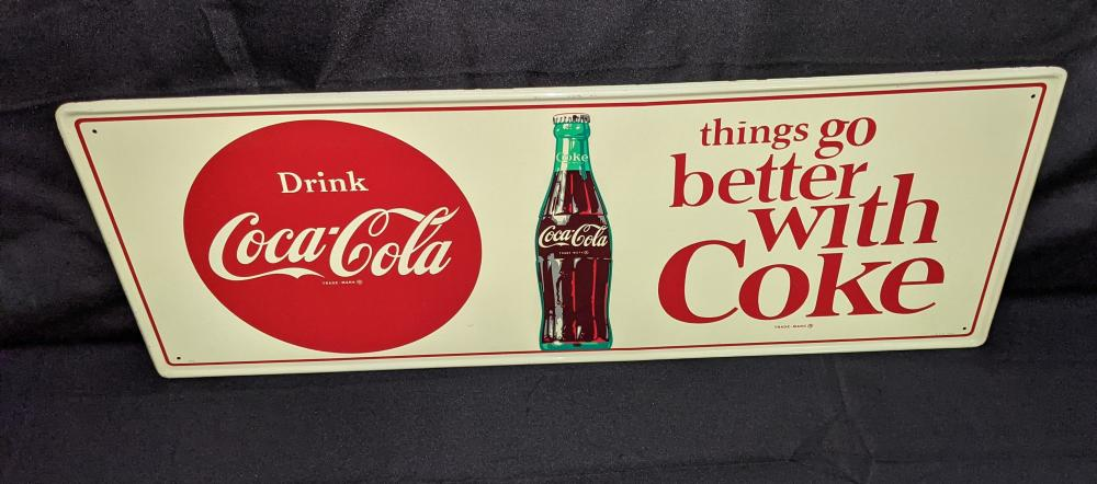 TIN SIGN COCA COLA THINGS GO BETTER WITH COKE