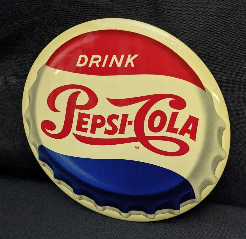 """9"""" CELLULOID SIGN DRINK PEPSI COLA"""