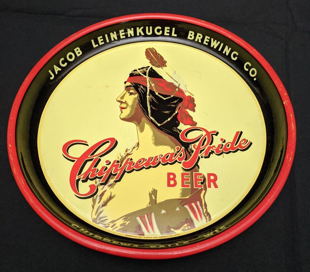 BEER TRAY LEINENKUGELS CHIPPEWAS PRIDE