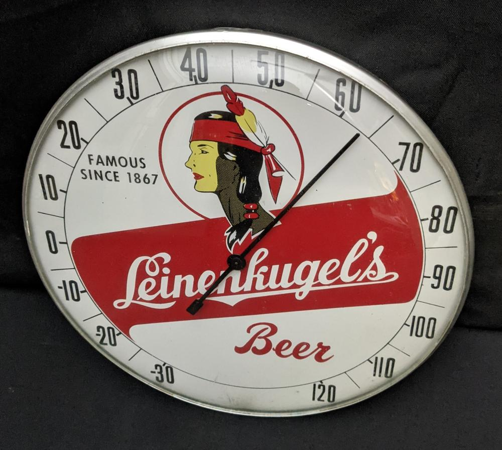 """12"""" THERMOMETER SIGN LEINENKUGELS BEER"""
