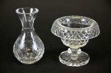 Waterford Crystal Compote and Rogaska Bud Vase