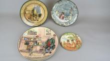 Four Royal Doulton Hand Painted Scene Plates