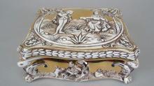 Capodimonte Figural Relief Lidded Box