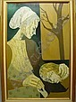 Edith Altman Mother & Child Oil Painting