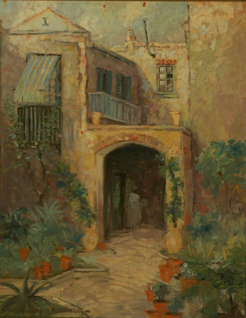 Collette Pope Heldner New Orleans Courtyard