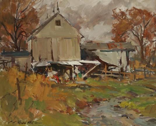 Charles Movalli Landscape Oil