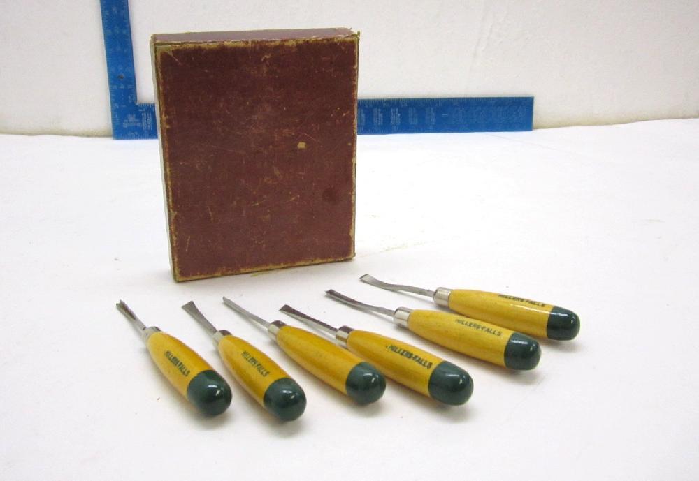 c1950's Millers Falls Tools Carving Tool Set #106