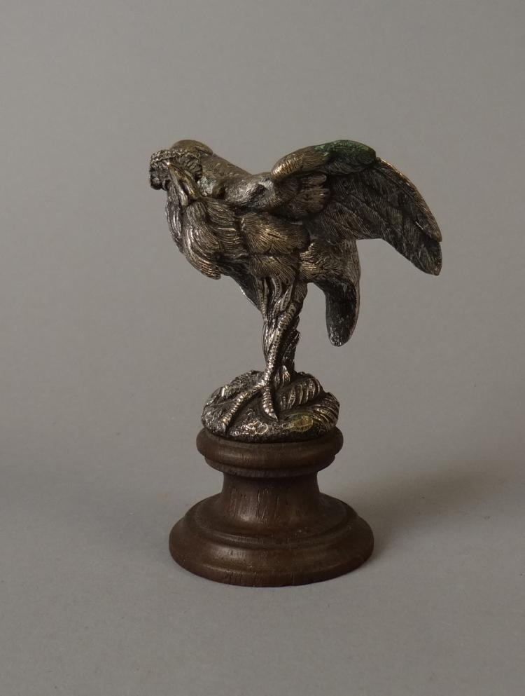 Sculpture: Vienna bronze - Volatile - monogrammed E.C.
