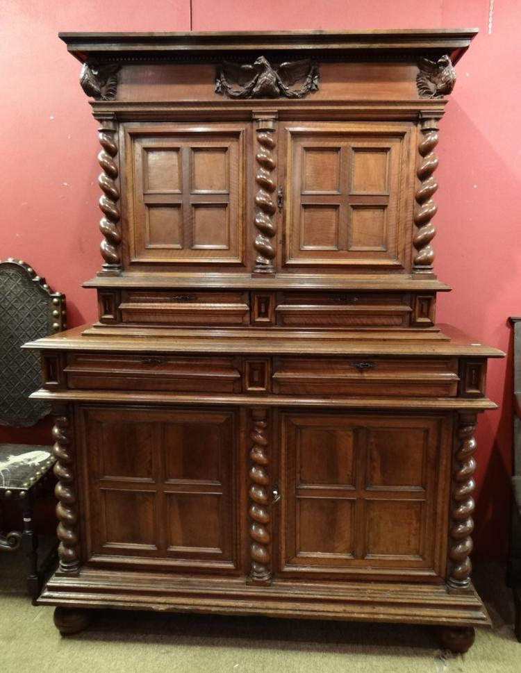 walnut Renaissance furniture end 17C