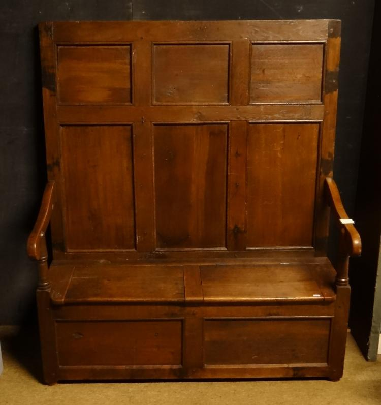 Furniture: Oak Archebanc late 18th / early 19C