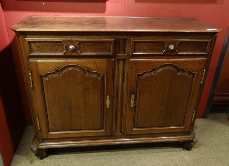 Furniture: Oak Dresse end 18C