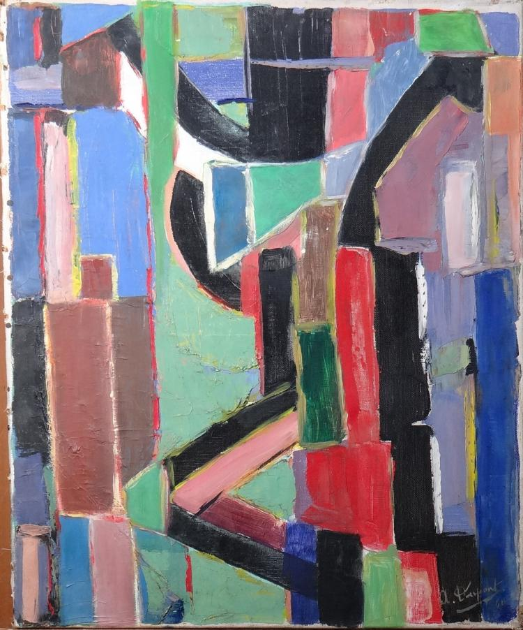 Painting oil on canvas - Composition - signed DUPONT Armilde