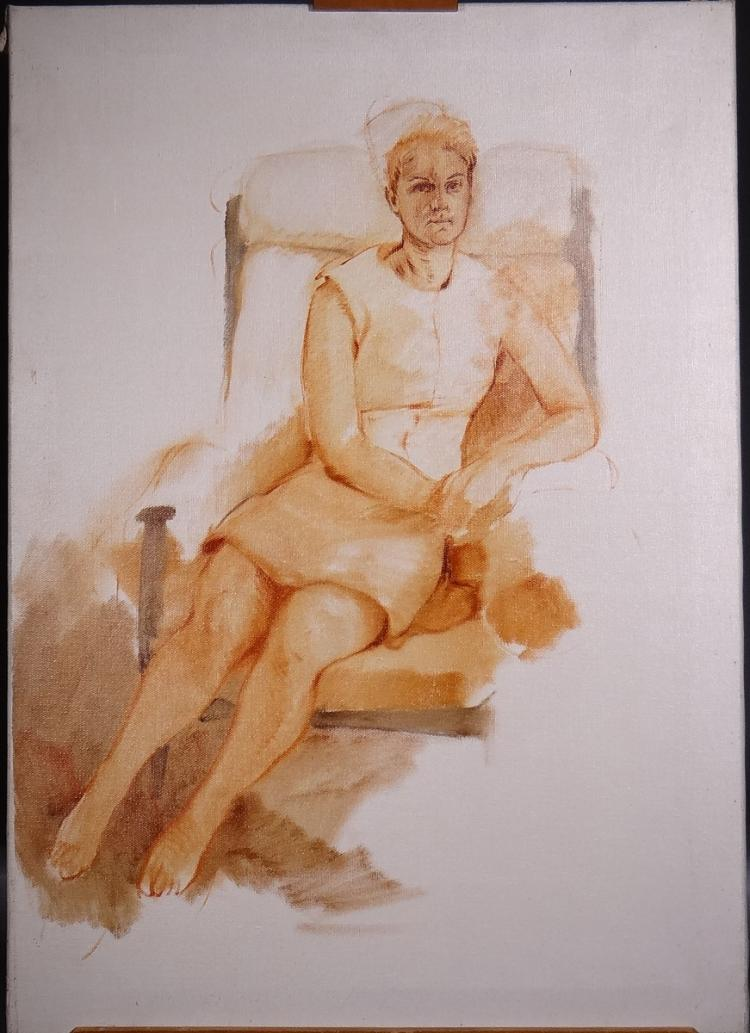 Painting oil on canvas - Study - signed TRENTE Roger