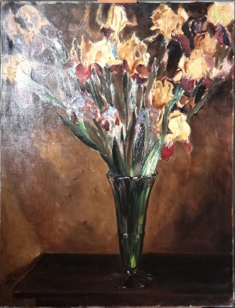Painting oil on canvas - Bouquet of flowers in a vase - signed Marcel GILLIS
