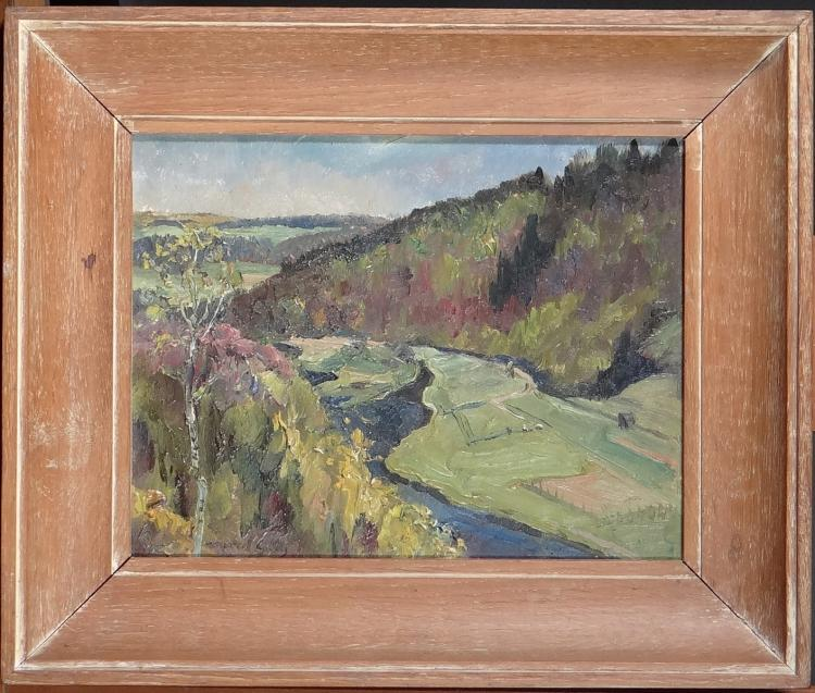 Painting oil on panel - Landscape - signed Marcel GILLIS