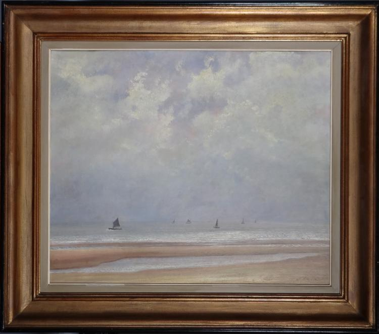 Painting oil on panel - Seascape - signed Gommaerts Fernand