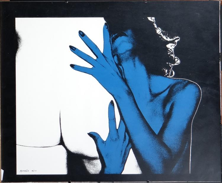 Engraving Serigraphy - Blue Desire - signed RICHEZ Jacques