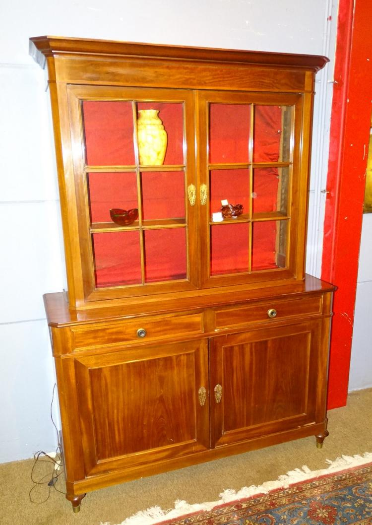 furniture: mahogany bookcase Louis-Philippe period