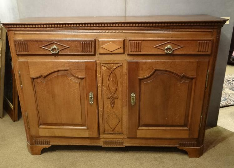 Furniture: Oak Style Dresser first half of the 19C