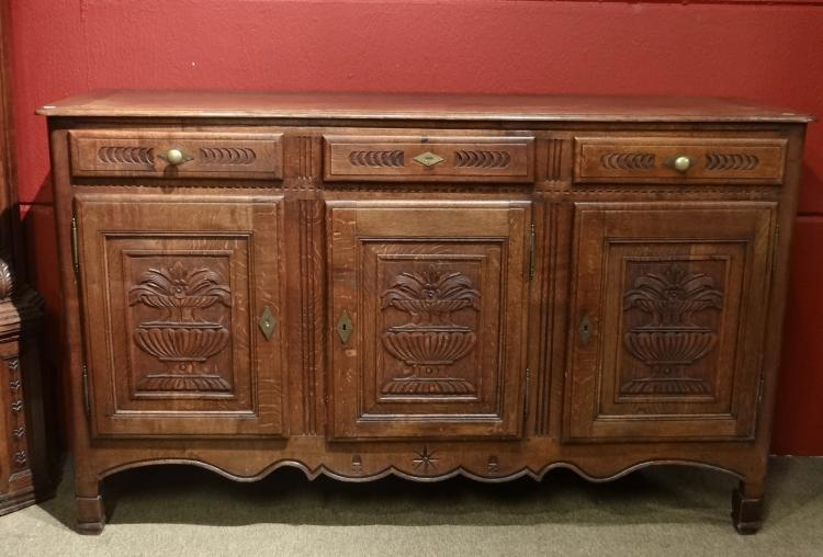 Furniture: Oak Dresser side board 19th