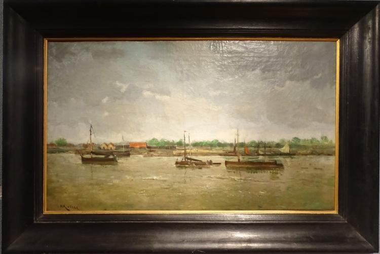 Painting oil on canvas - Seascape - signed LYNEN Amédée