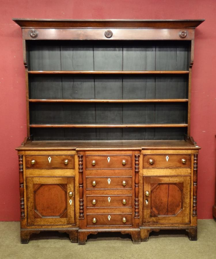 Furniture: English oak dresser late 18th - early 19C