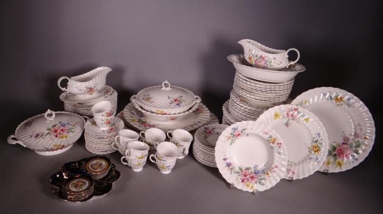 Ceramics: porcelain Royal Doulton Service. porcelain pralines Service stamp PM