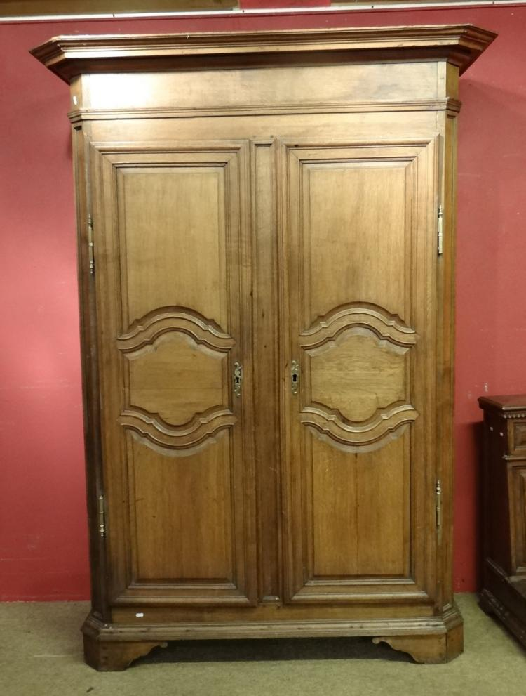 Furniture: Louis XV armoire in oak 18C
