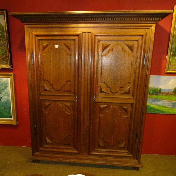 Furniture: Louis XIV wardrobe in oak 18C