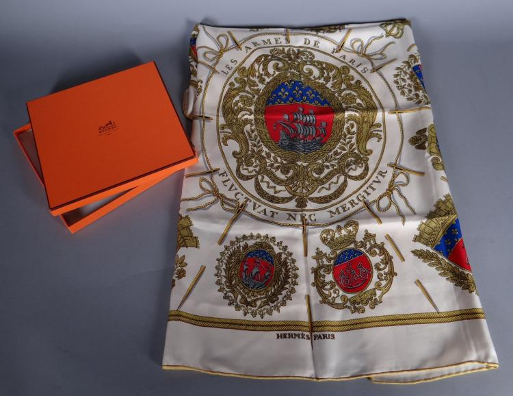 Fashion: silk square scarf HERMES Paris