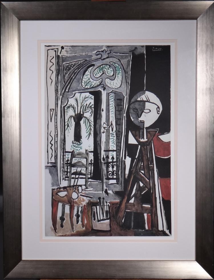 Engraving: Screen printing - L'Atelier - Pablo PICASSO