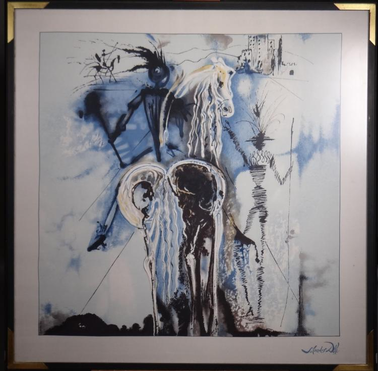 Engraving: Silk serigraphy - Don Quixote - Salvador DALI