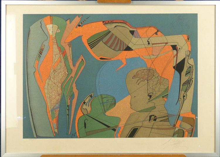 Engraving: Litho - Composition - signed CHEMIAKIN Mikhail