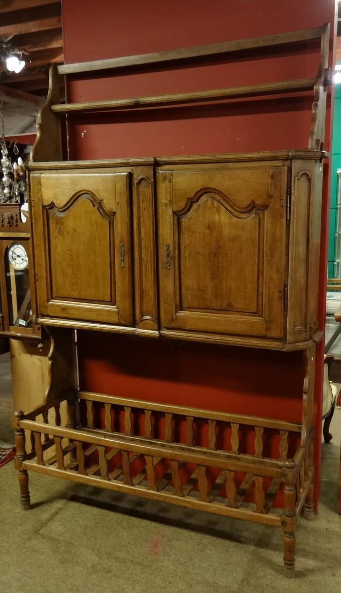 Furniture: Louis XV style cabinet in oak end 18C