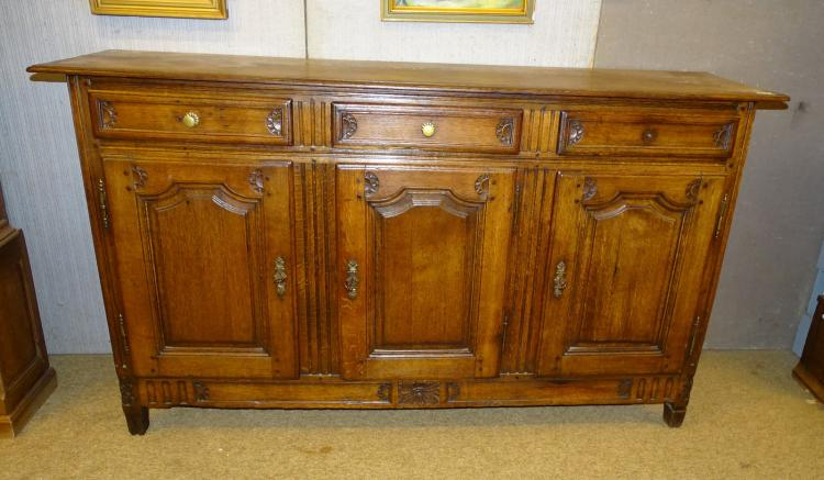 Furniture: Oak Louis XVI dresser / sideboard late 18C