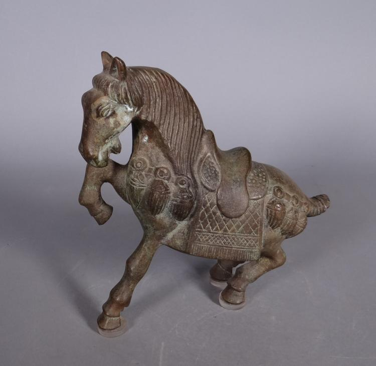 Asian: Subject horse in bronze early 20C
