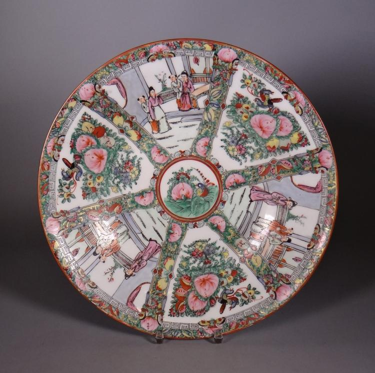 Ceramics: Chinese porcelain dish Canton end 19c - early 20c