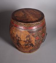 Asian: Barrel for rice reserve 19C