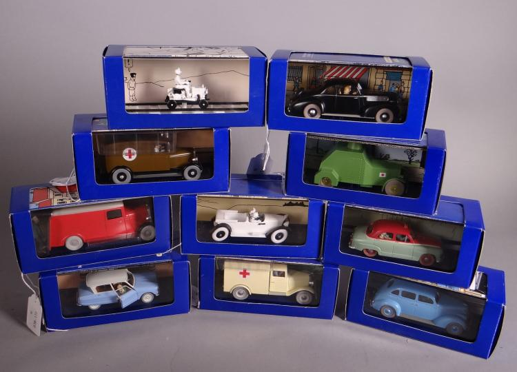 Toy Cars - Tintin drive - Editions Atlas in their box (10pcs)