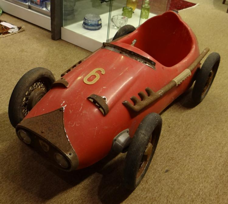 Toy: Pedal car - Carrera - PINES in Moplen circa 1964