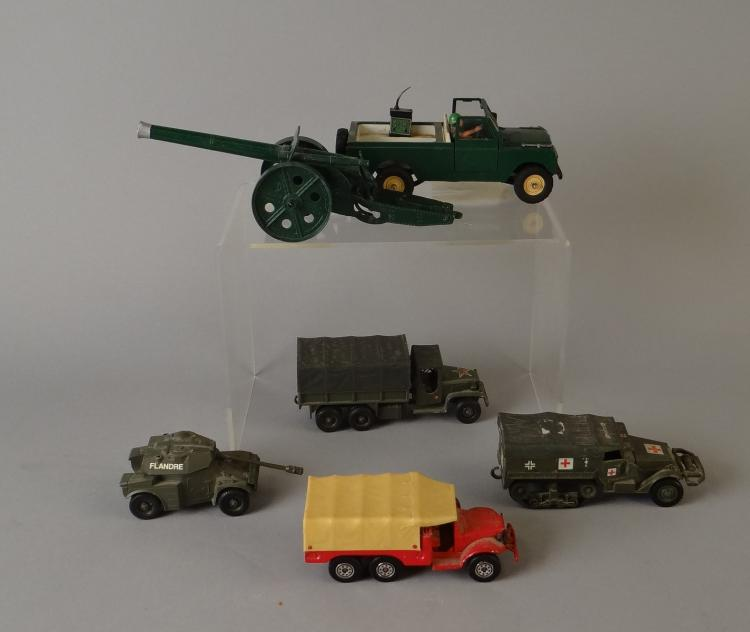 Toy (6) Set of military vehicles SOLIDO brand and BRITAINS