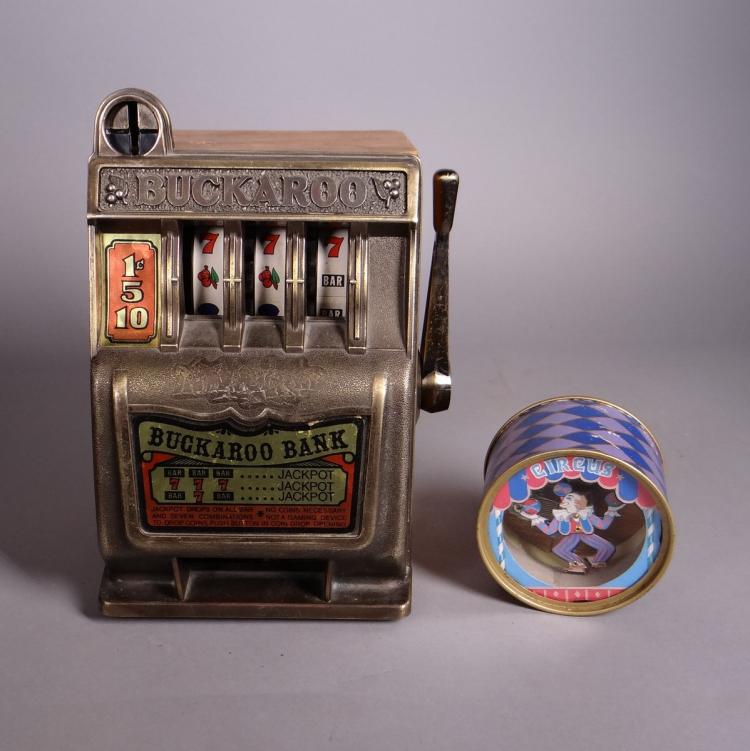 Toy: Buckaroo Bank Jackpot and Circus Music Box