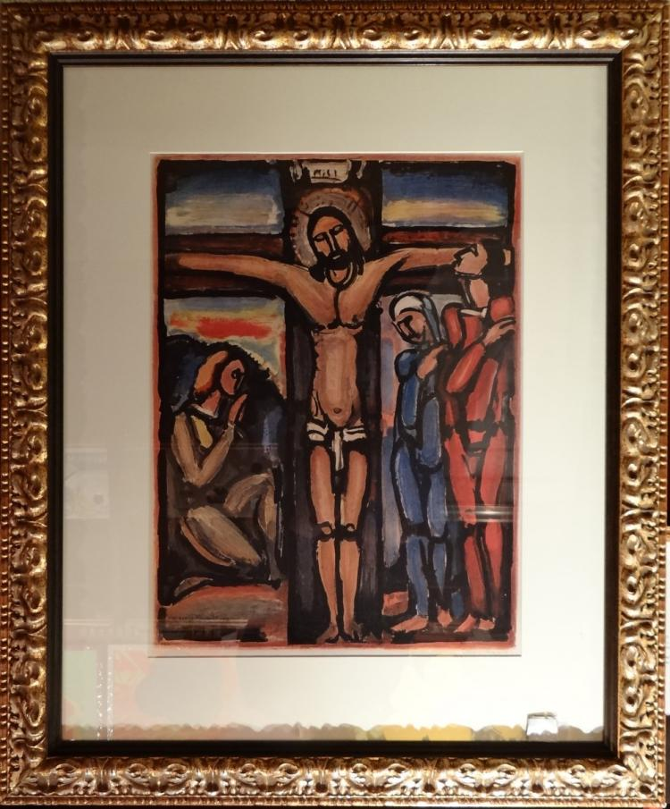 Engraving: - Christ on the Cross - Georges ROUAULT