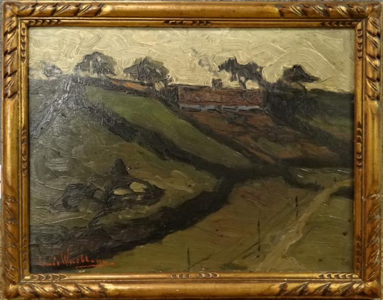 Painting oil on canvas - Landscape - signed Wuillem Louis