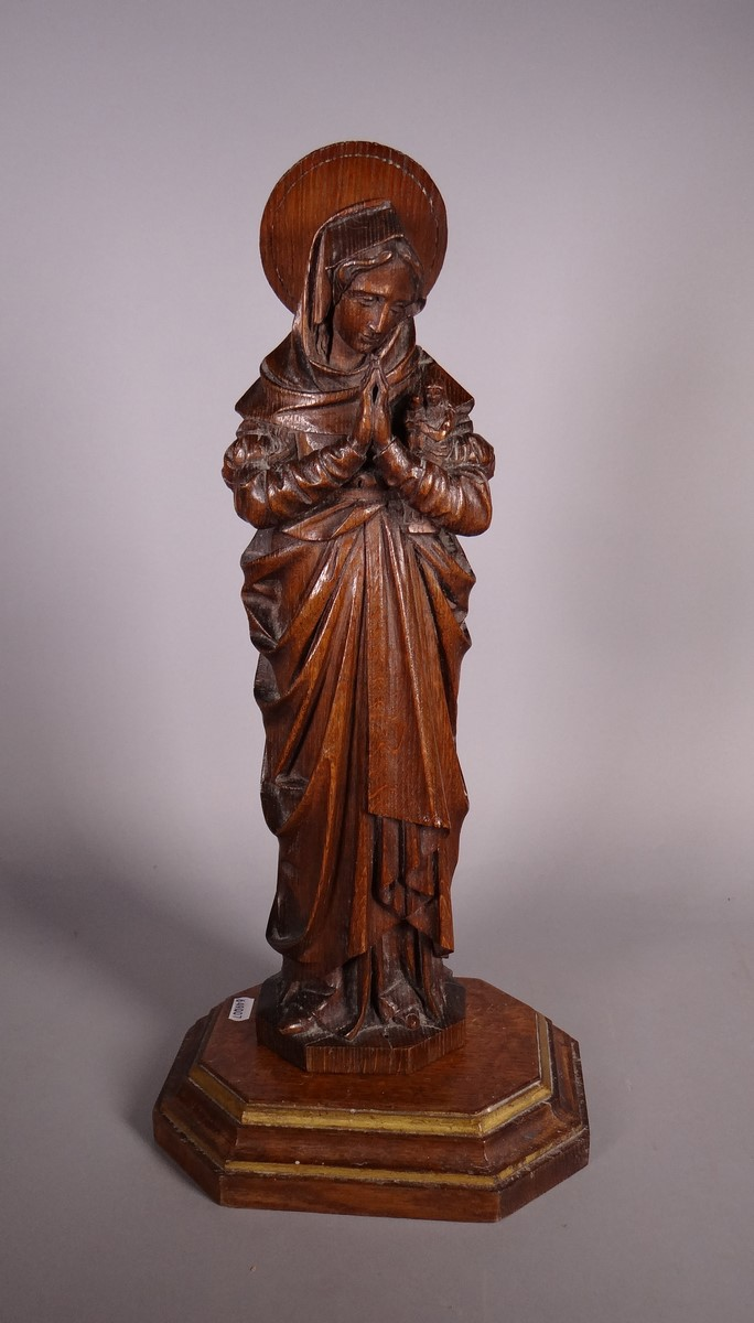 Oak sculpture - Ste Anne - anonymous 19C